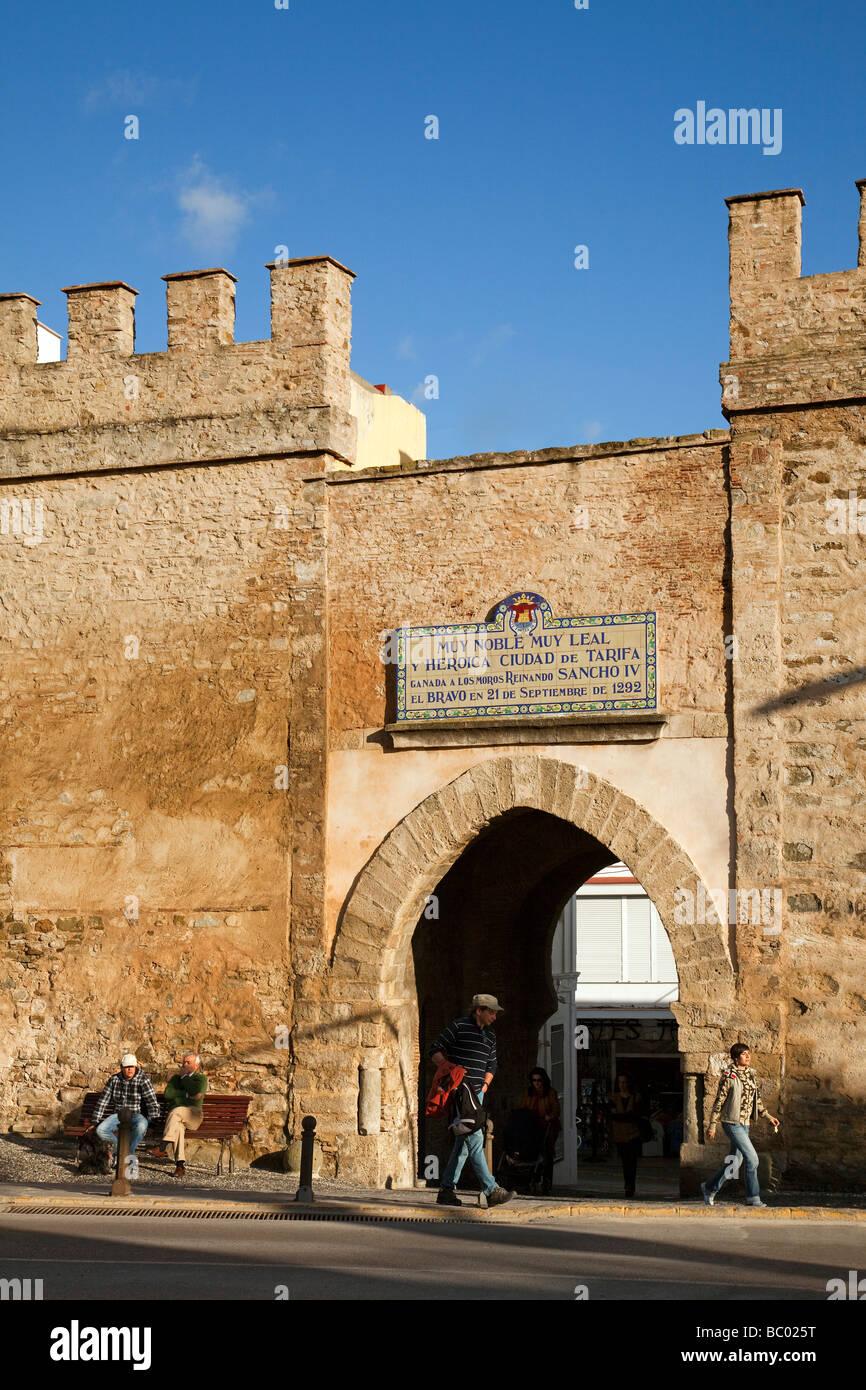 Puerta de Jerez en Tarifa Cádiz Andalucía España Puerta de Jerez Tarifa Cadiz Andalusia Spain Stock Photo