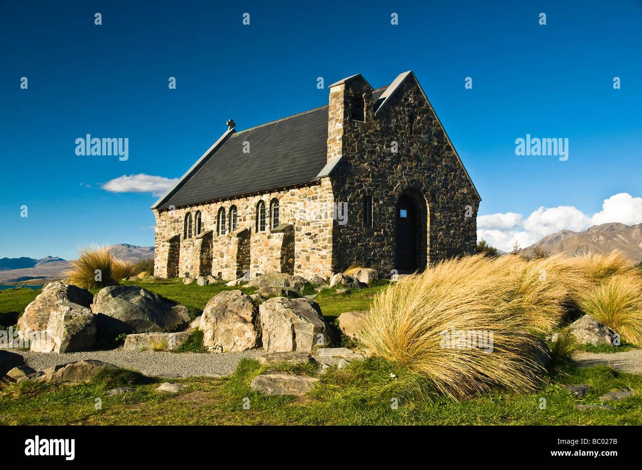 Church of the Good Shepherd Lake Tekapo South Island New Zealand - Stock Image