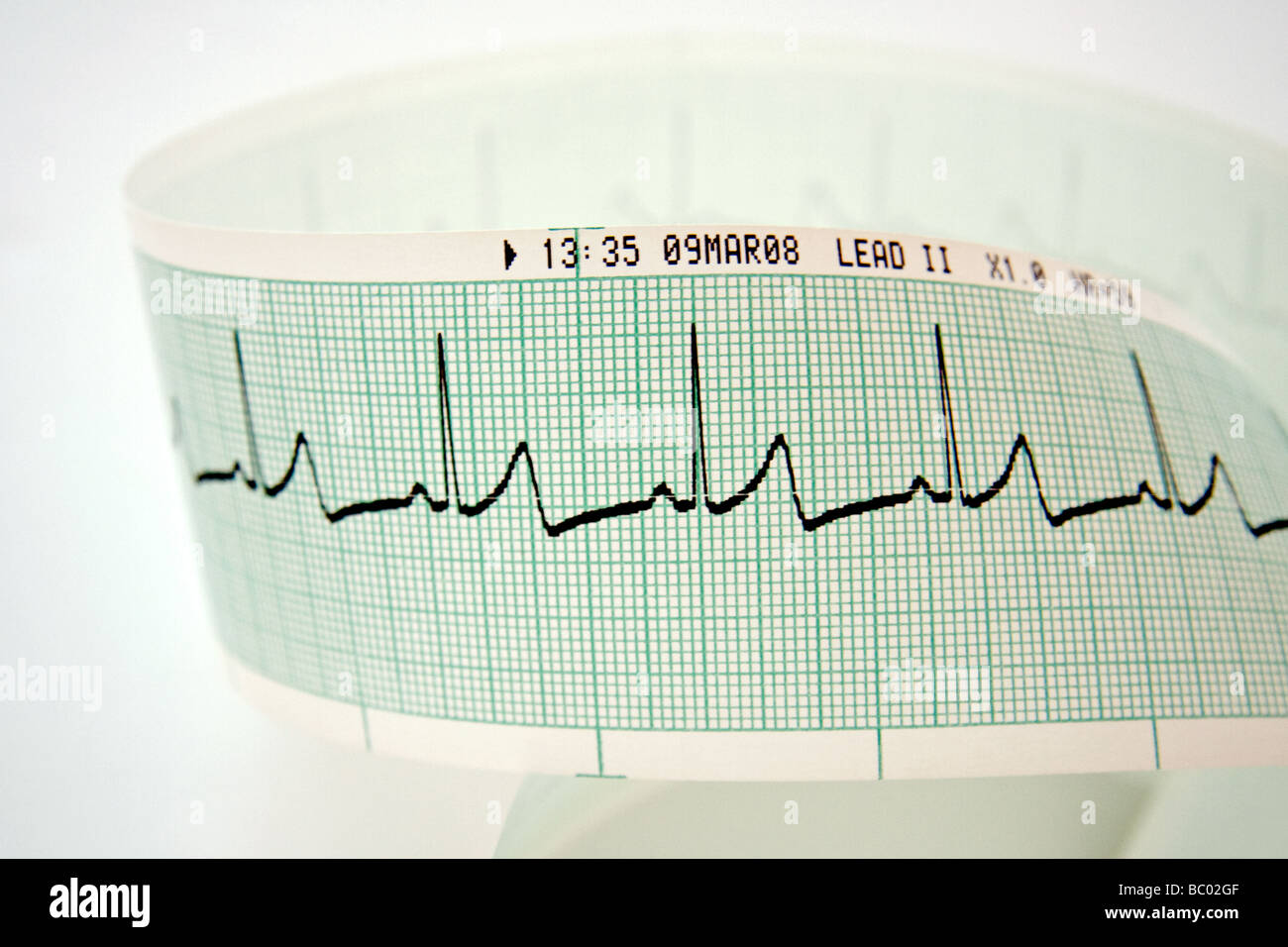 Heart rate printout - Stock Image