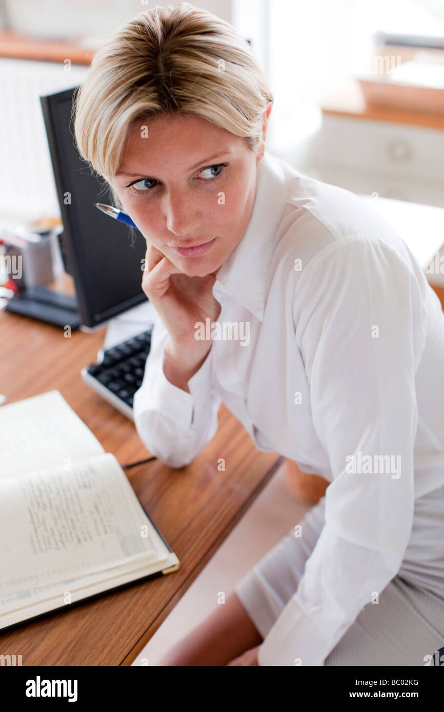 Woman worried - Stock Image