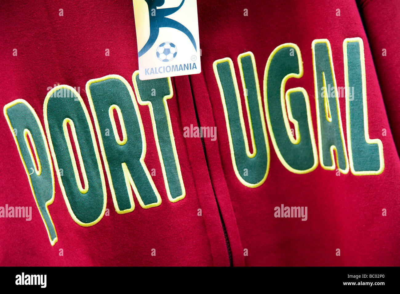 Portugal football tracksuit top - Stock Image