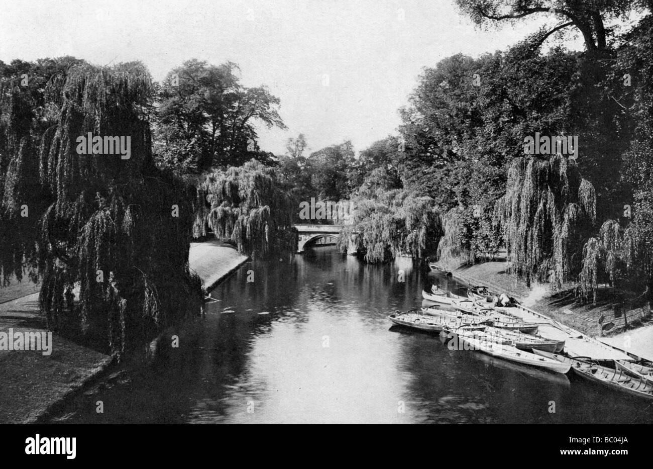 Trinity College Bridge, Cambridge, 1924-1926. - Stock Image