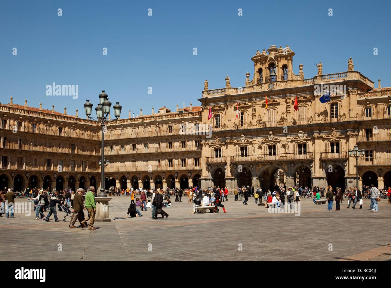 Plaza Mayor De Salamanca Castilla Leon Espana Plaza Mayor In