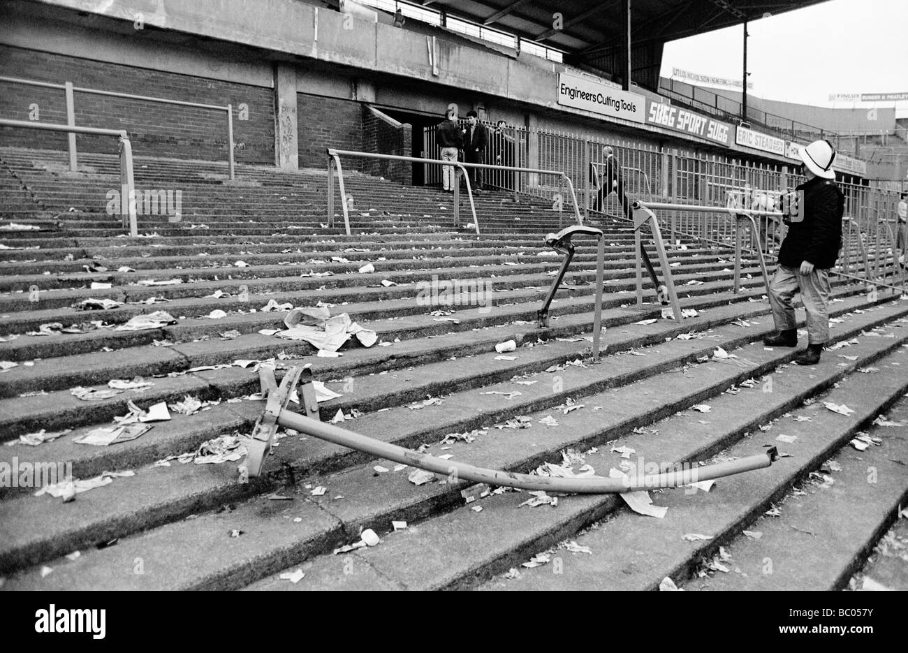The Hillsborough Football Stadium disaster 15 April 1989 during the FA Cup Semi Final between Liverpool and Nottingham - Stock Image