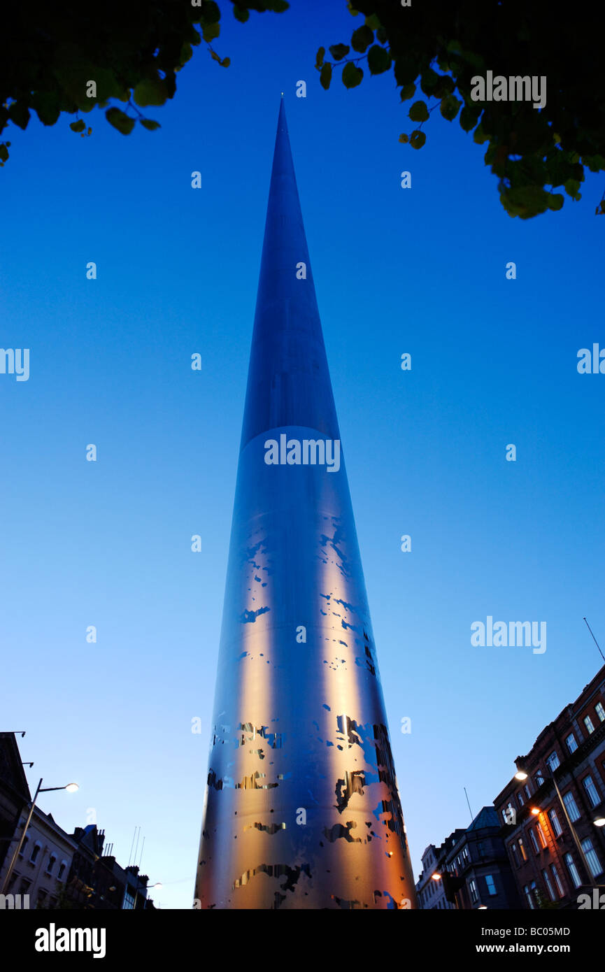 The Spire of Dublin officially titled the Monument of Light in O Connell St Dublin Republic of Ireland - Stock Image