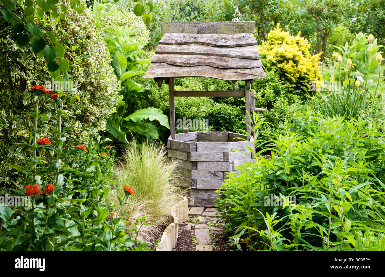 A Corner Of The Wishing Well Garden At The TWIGS Gardens In Swindon  Wiltshire England UK