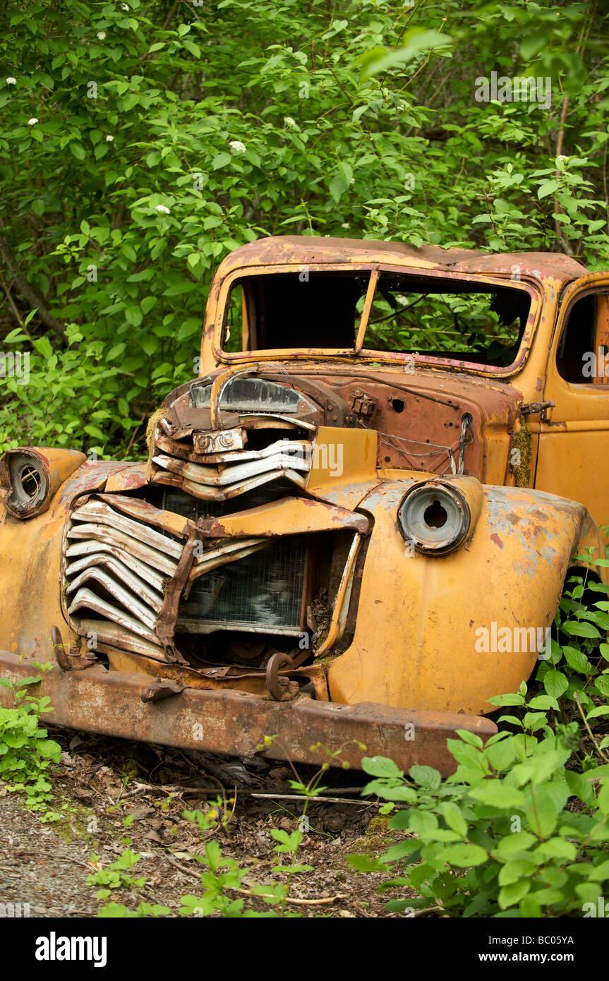 Old car Alta Lake Park - Stock Image