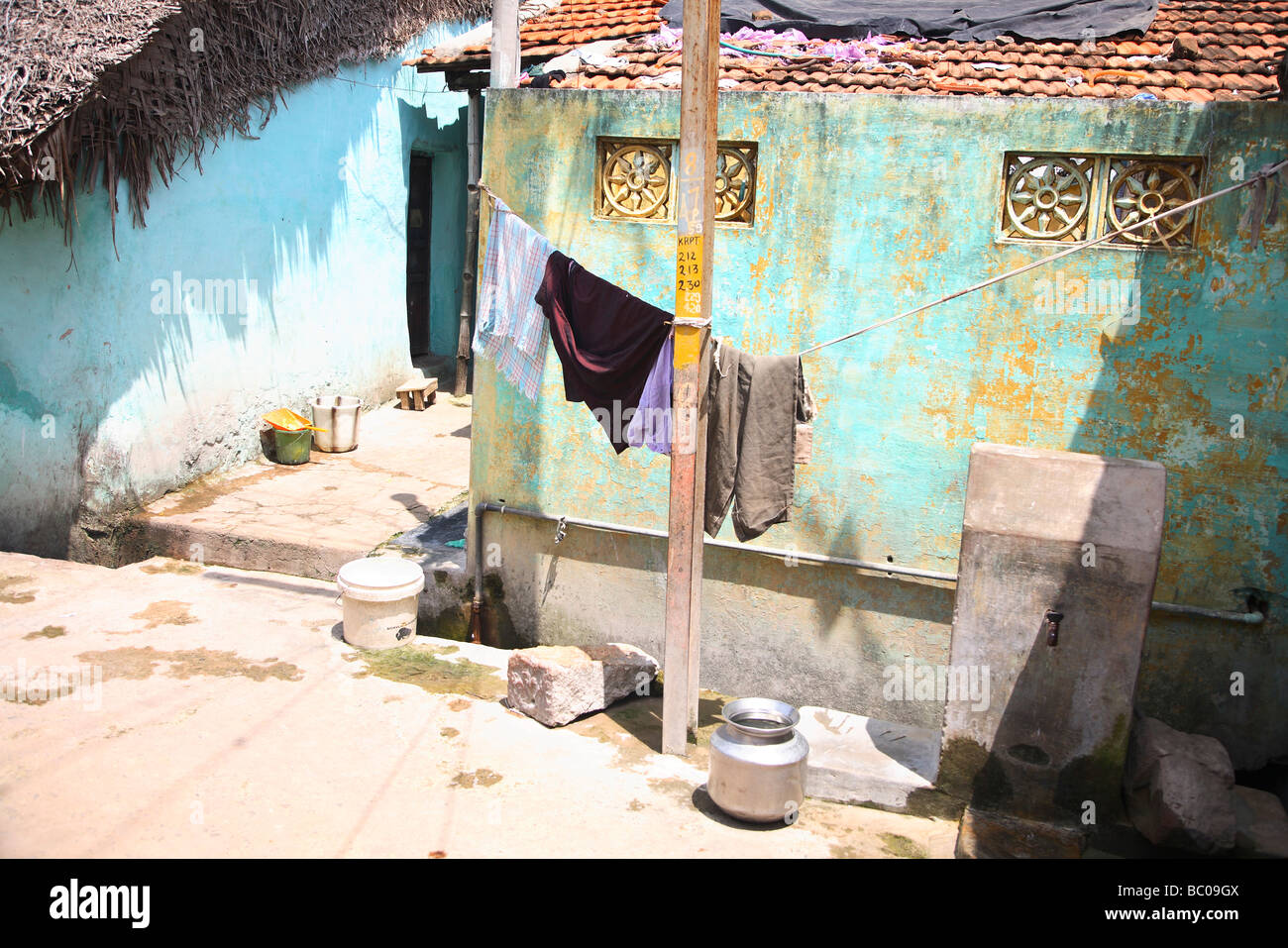 India, Tamil Nadu, Thanjavur, Tanjore, old town part Stock