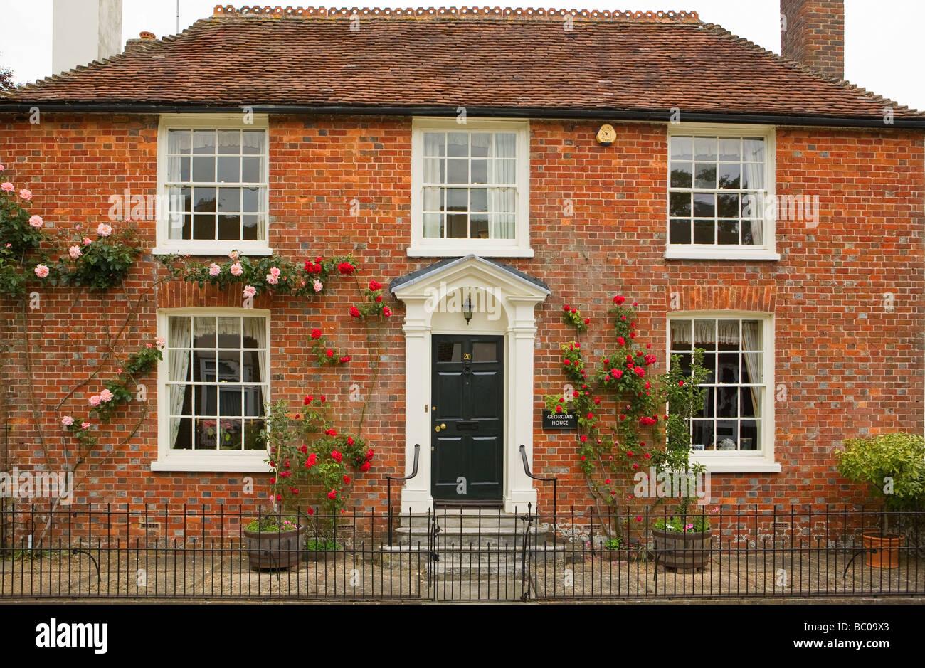 Georgian town house. Storrington, West Sussex, UK - Stock Image