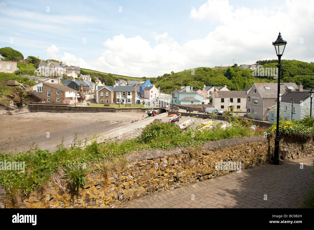 Summer afternoon Little Haven Pembrokeshire Coast National Park south west wales UK - Stock Image