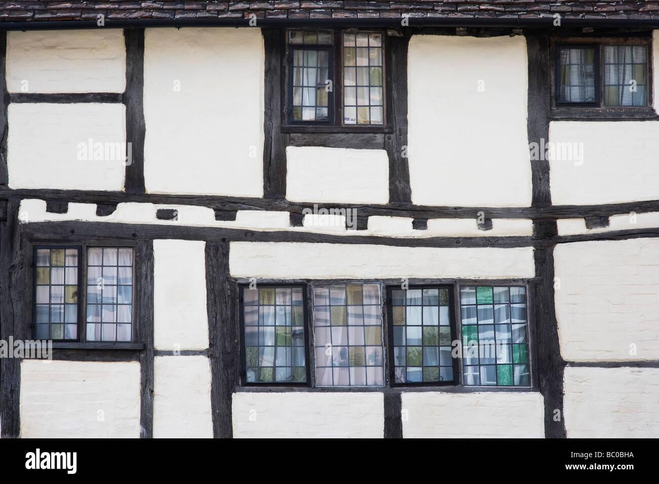 Tudor timber framed houses,Stratford upon Avon, Warwickshire, England - Stock Image