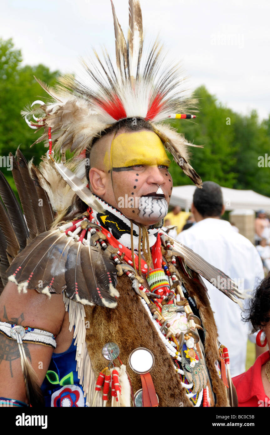 An American Indian from the Cherokee tribe at the Pow Wow in Waldorf