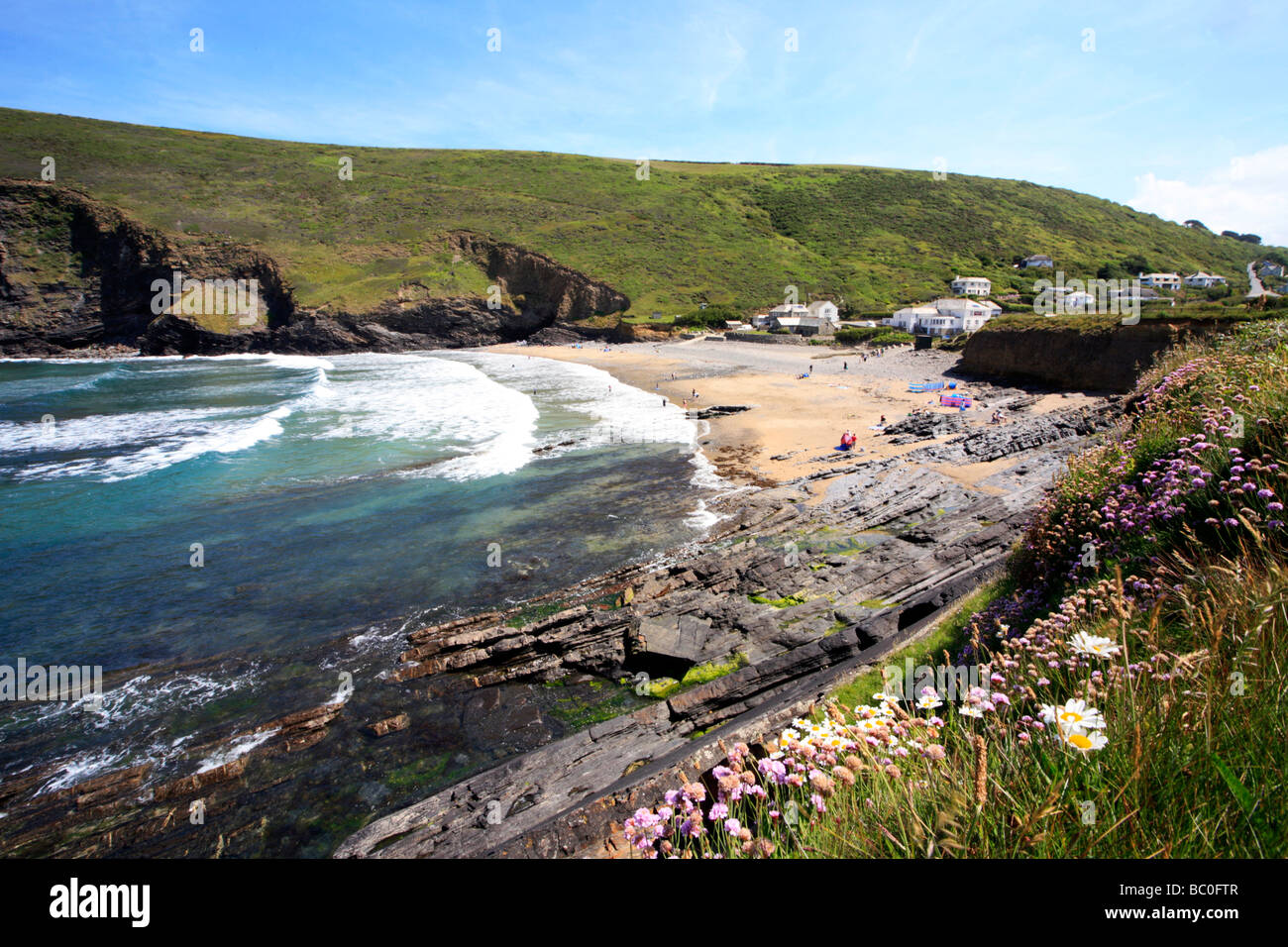 Crackington Haven Cornwall - Stock Image