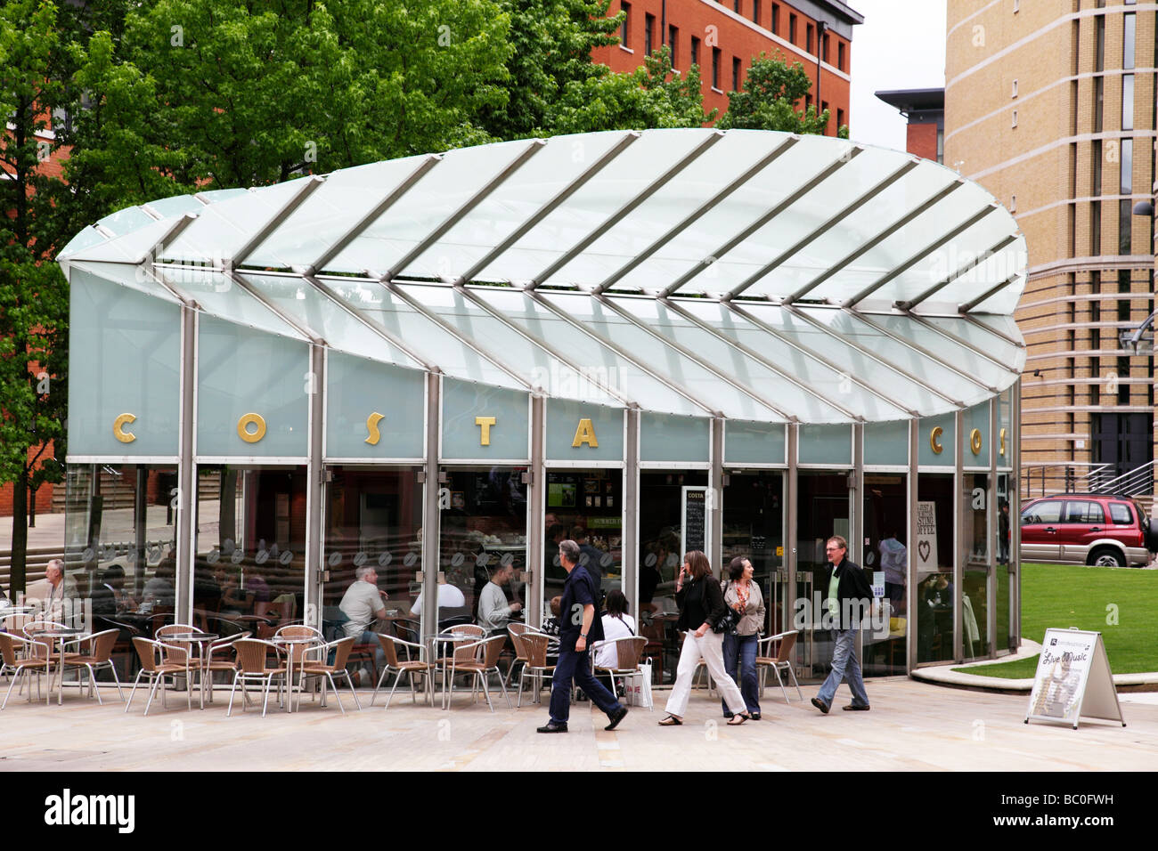 Modern Costa Coffee Cafe Within Brindley Place Birmingham Uk