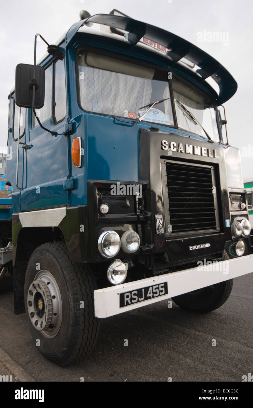 Vintage Scammell lorry at rally Stock Photo