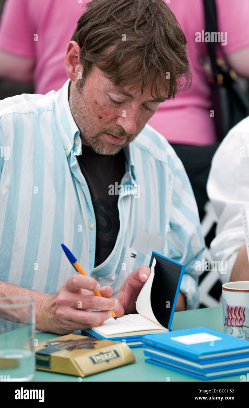 Mexican novelist DBC Pierre born Peter Warren Finlay in Australian pictured at Hay Festival 2009 Stock Photo