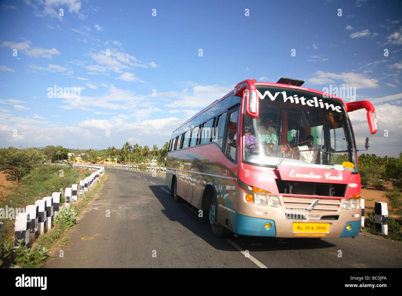 India, Tamil Nadu, Eriyodu, just north of Dindigul, bus