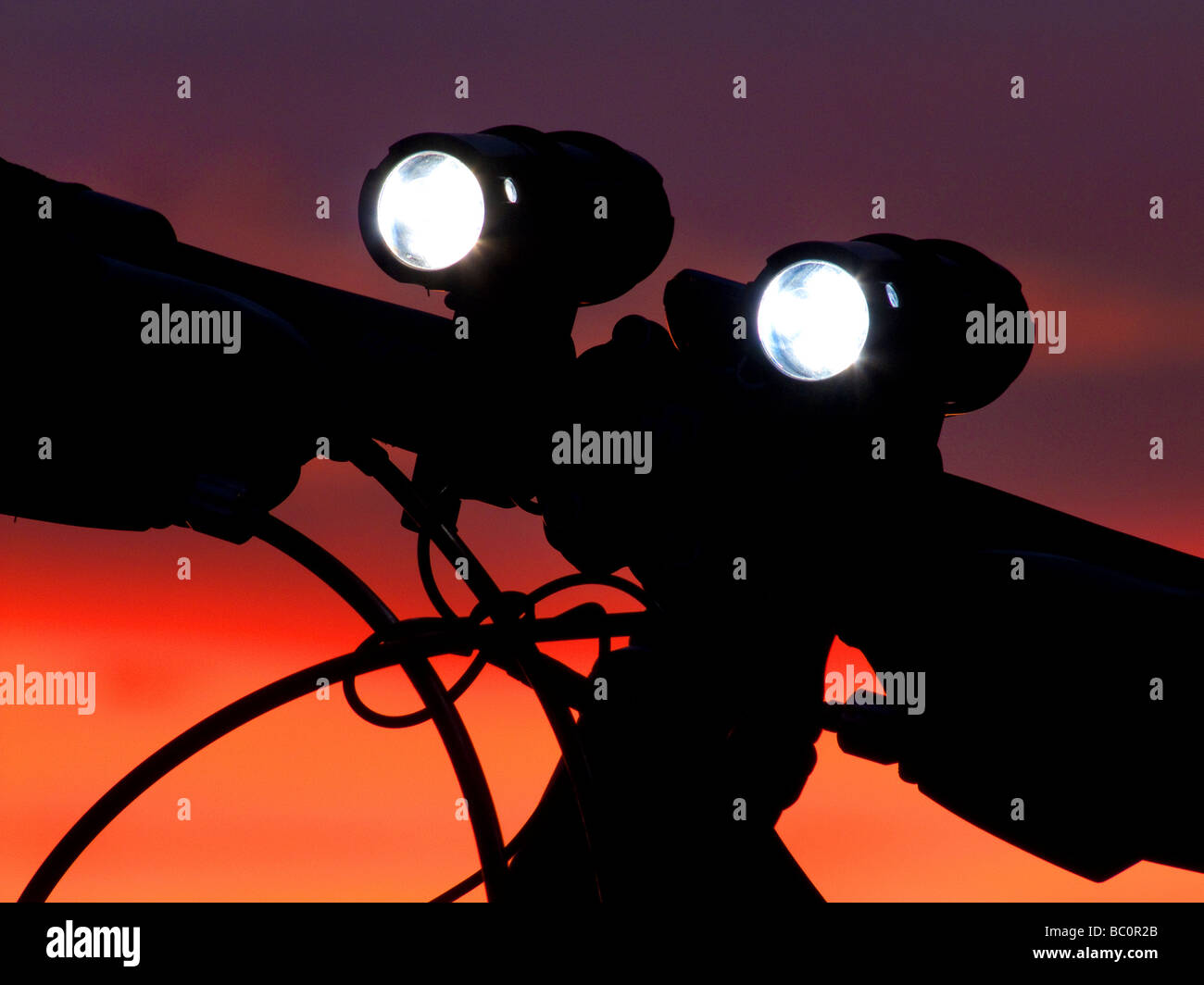 bicycle lights - Stock Image