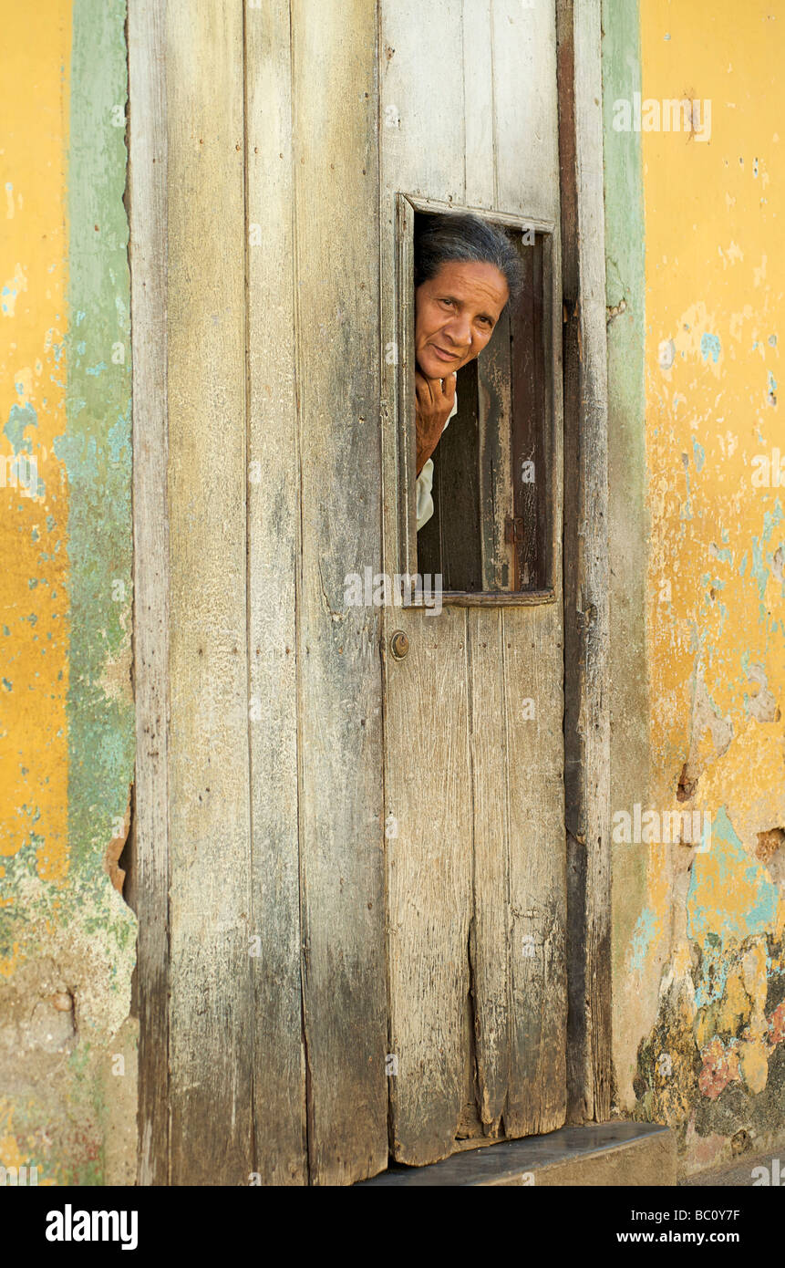 Woman Door Trinidad Cuba Stock Photos Woman Door Trinidad Cuba
