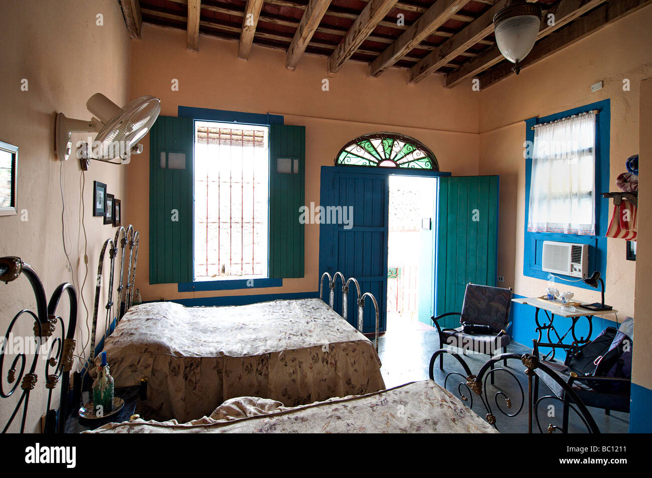 Interior of a casa particular, Cuba. Julio Bastida's 1826 home. - Stock Image