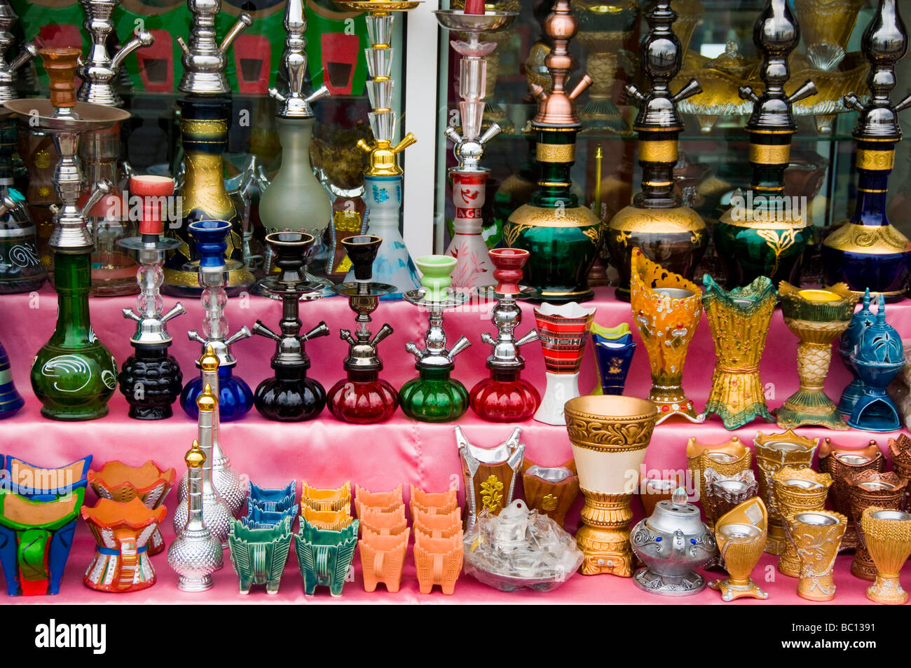 Traditional Handicrafts On Display In Stores Mutrah Souk Muscat Oman