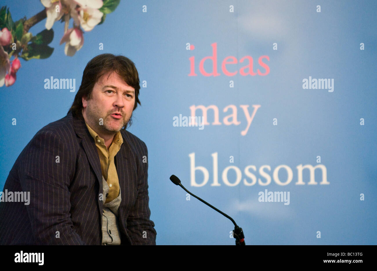 Derek Draper psychotherapist and Labour Party political activist pictured at Hay Festival 2009  - Stock Image