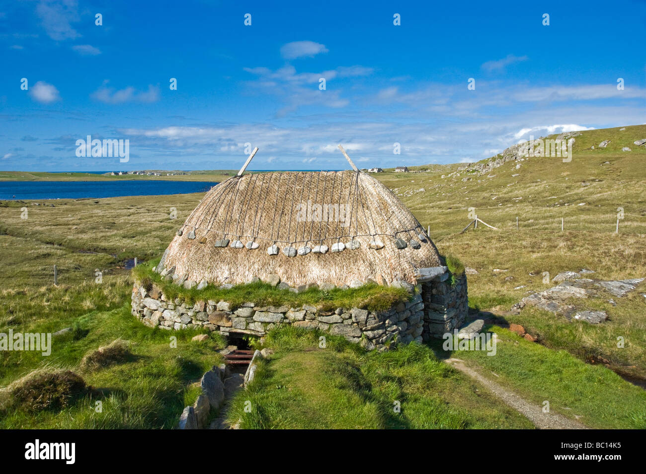 Shawbost Norse Mill near the townshiip of Shawbost on west coast of the Isle of Lewis Outer Hebrides Soctland - Stock Image