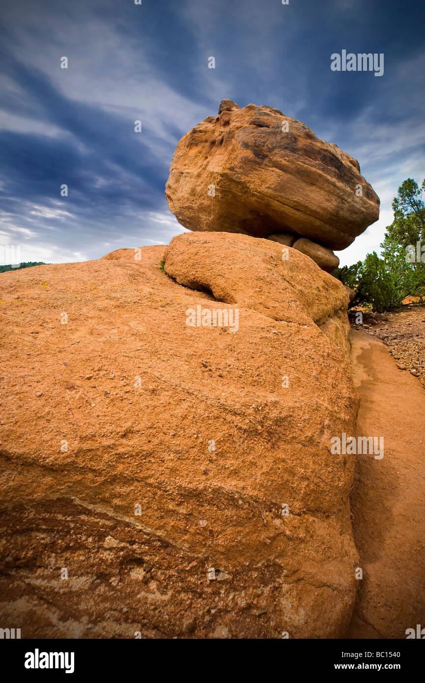 Rock Formations, Garden Of The Gods, Colorado Springs, Colorado USA - Stock Image
