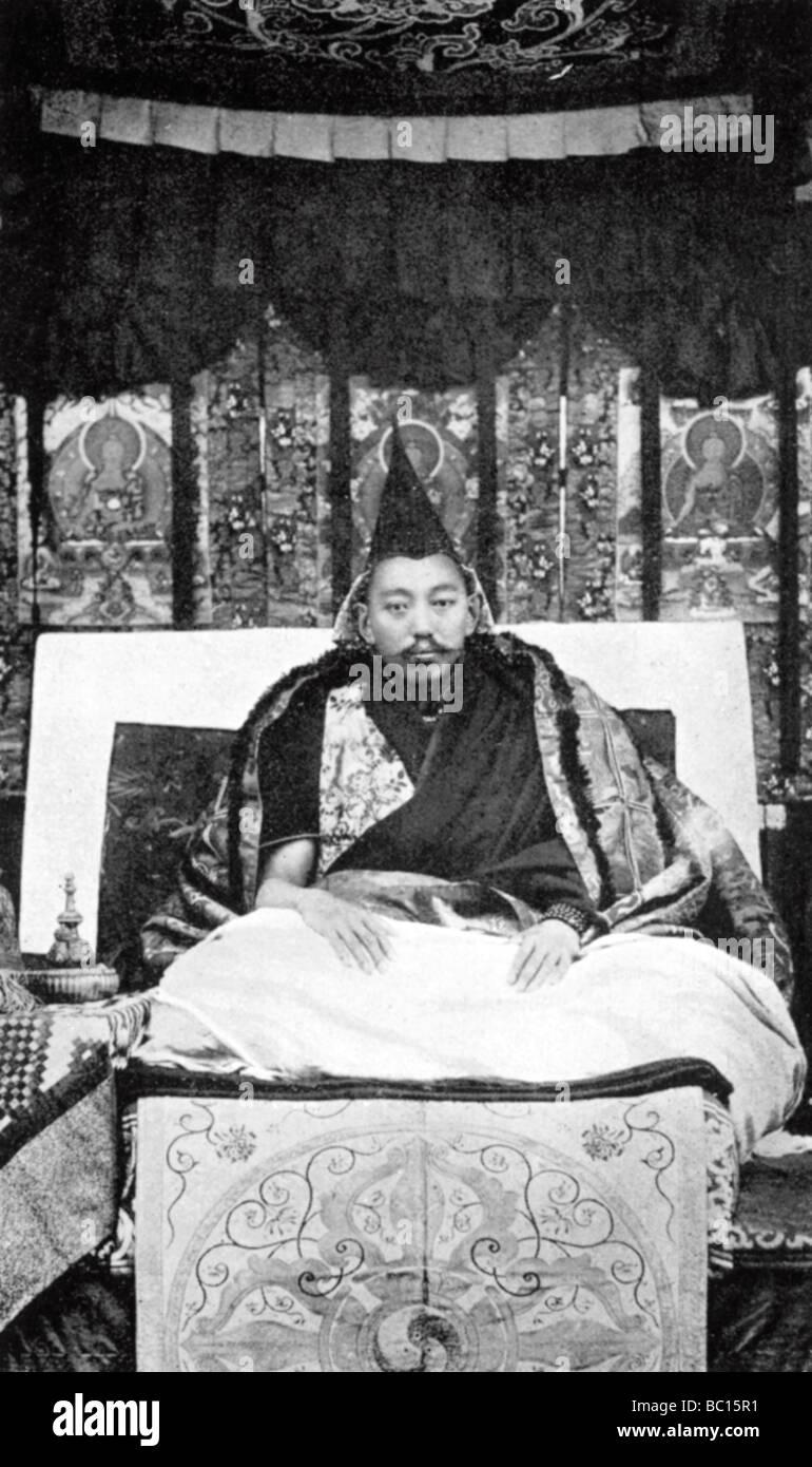 Thubten Gyatso (1876-1933), the 13th Dalai Lama of Tibet, c1910. - Stock Image