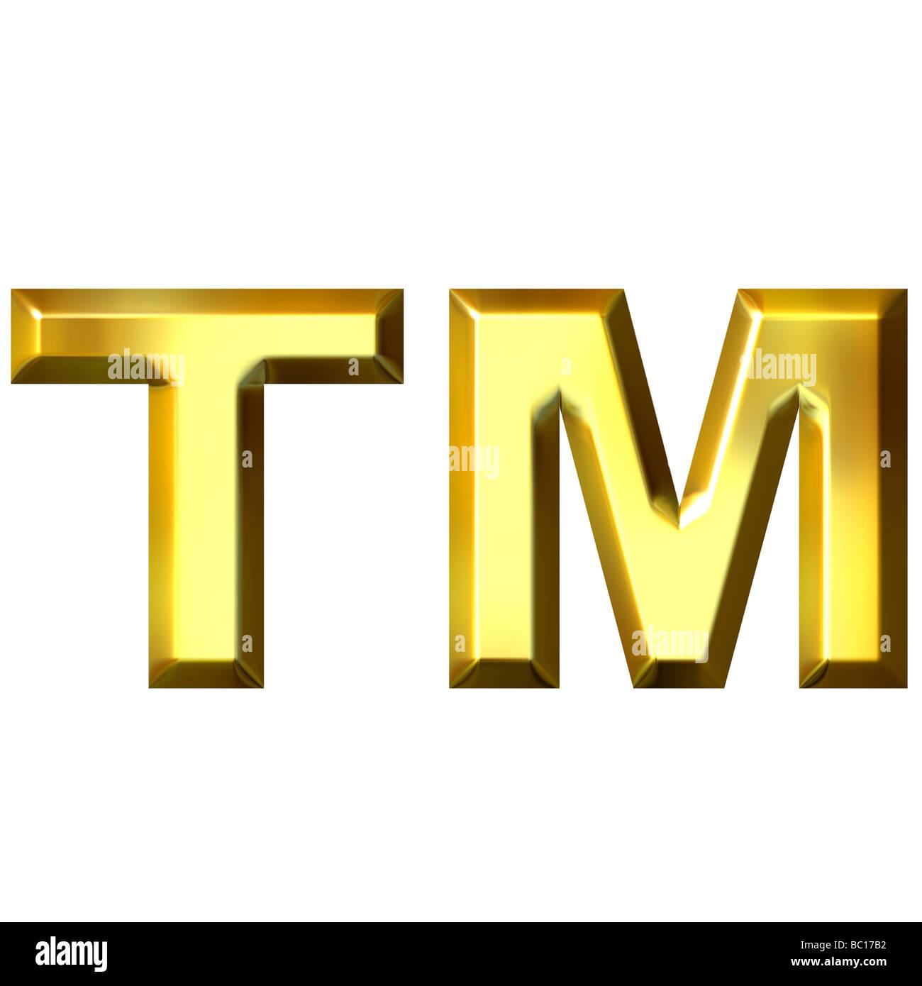 3d Golden Trademark Symbol Stock Photo 24613990 Alamy