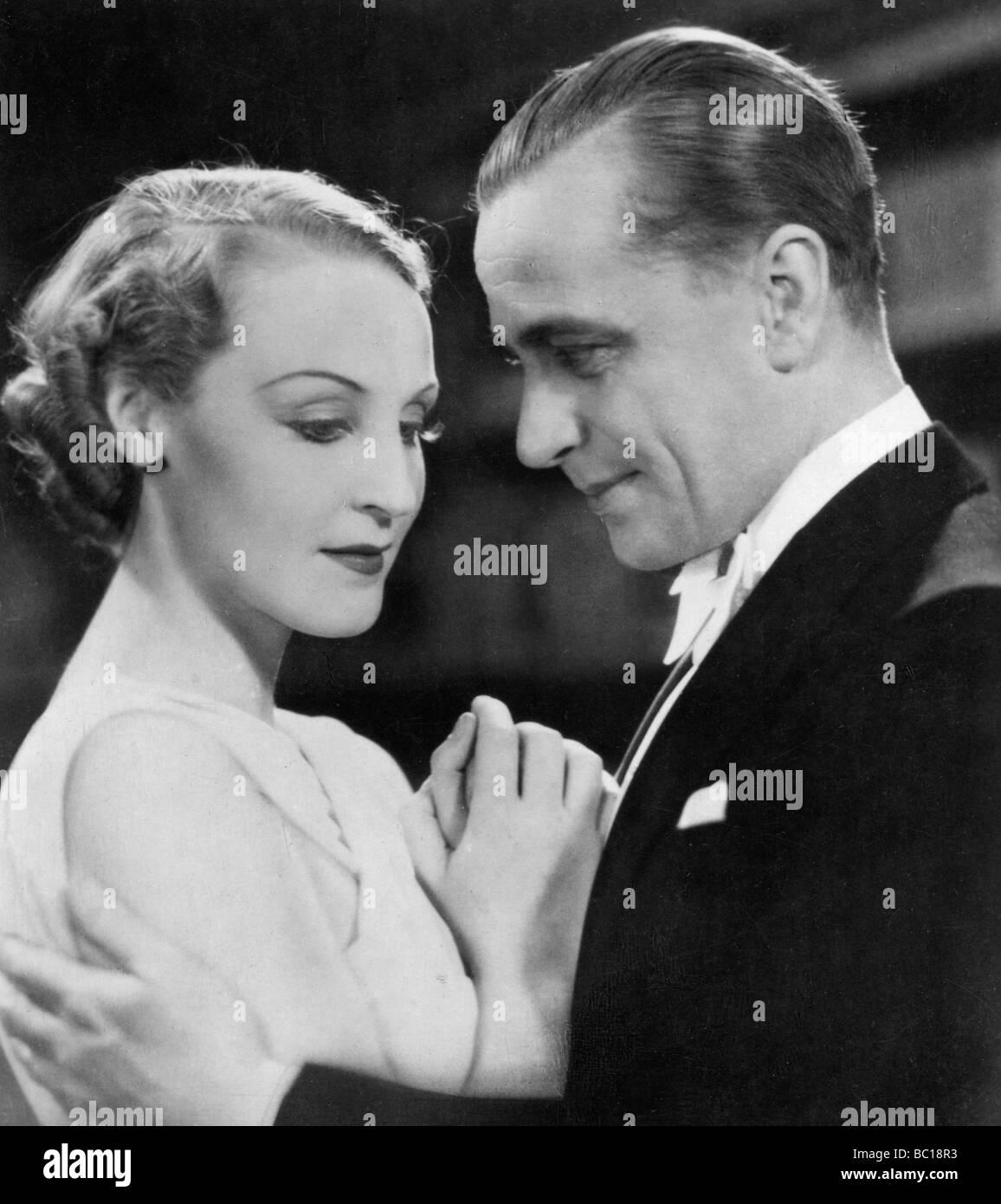 Brigitte Helm and Karl Ludwig Diehl, German film actors, 1930s. - Stock Image