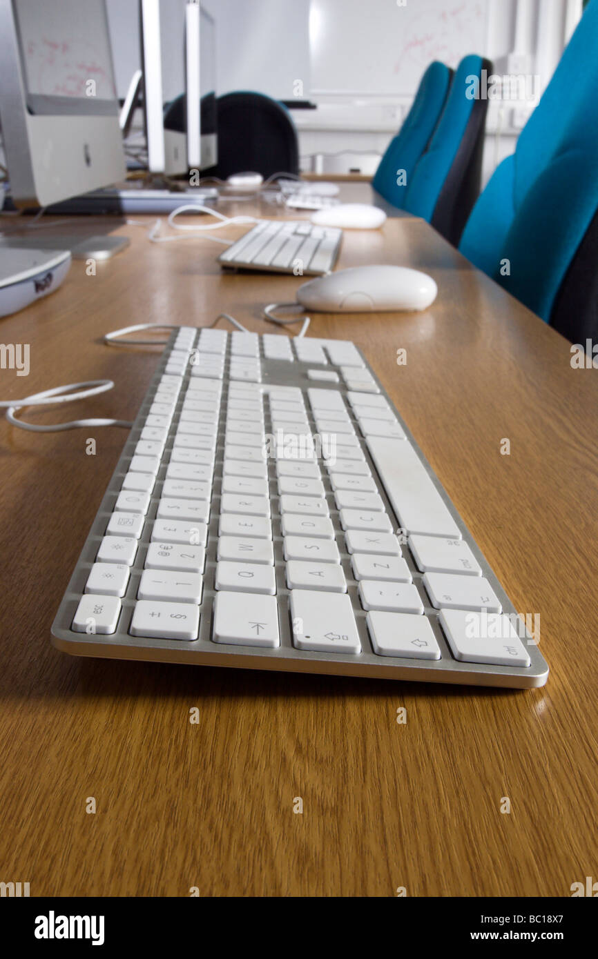apple iMac keyboard latest trand in education and business - Stock Image