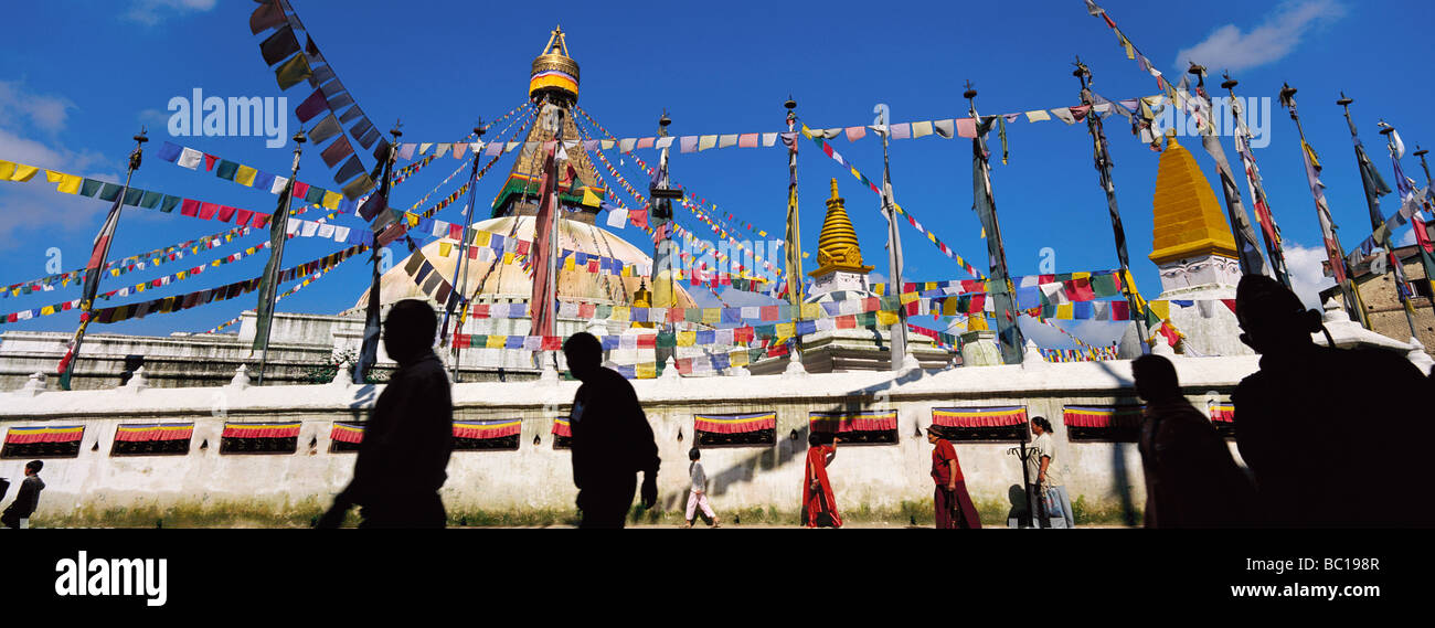 Nepal, Bagmati Zone, Kathmandu Valley listed as World heritage by UNESCO, stupa of Bodnath - Stock Image