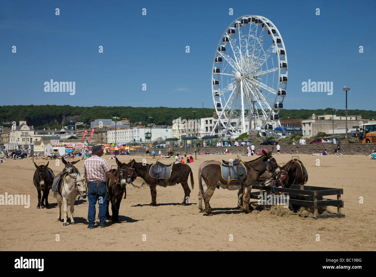 Weston Super Mare beach - Stock Image