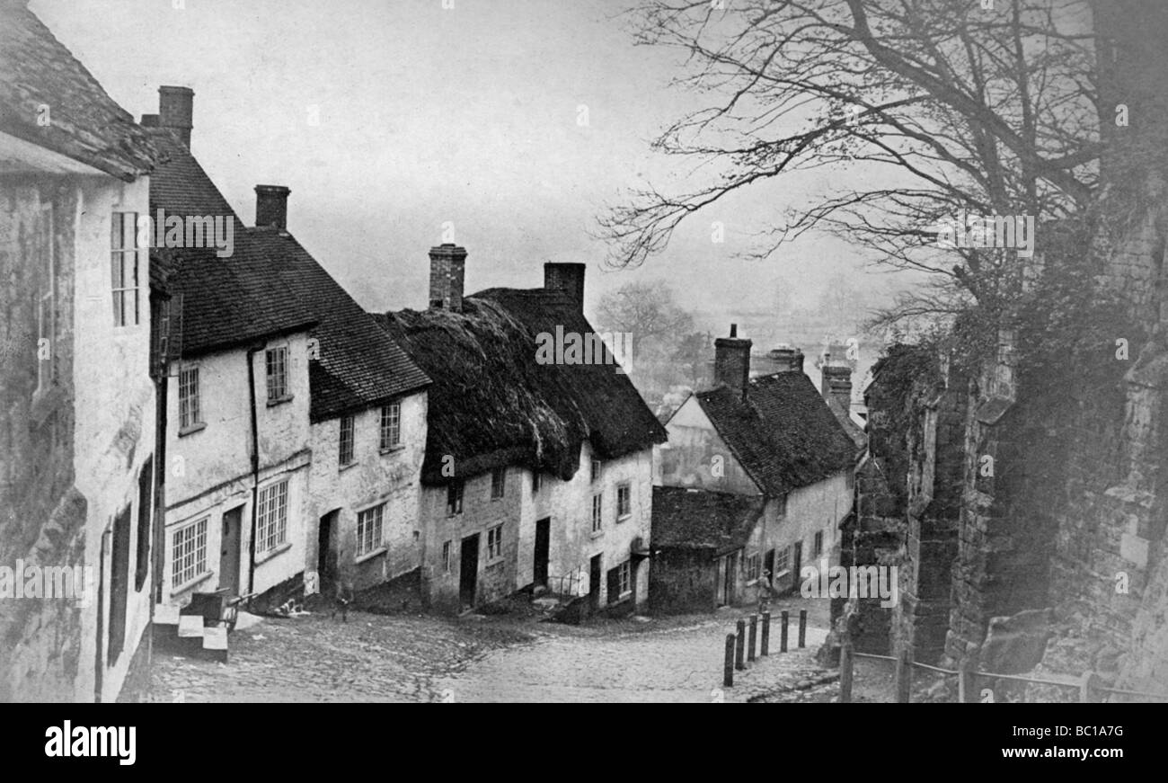 Gold Hill, Shaftesbury, Dorset, 1924-1926. Stock Photo