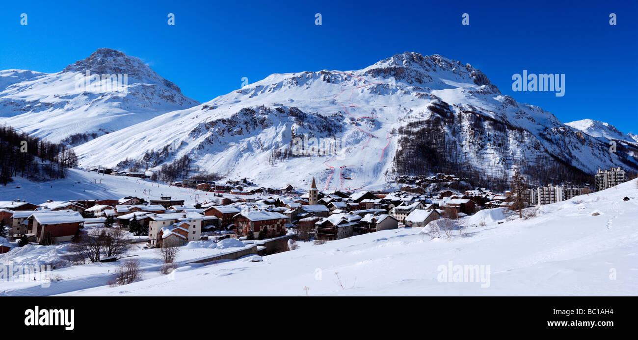 France, Savoie, Val d'Isere, criterium trace - Stock Image