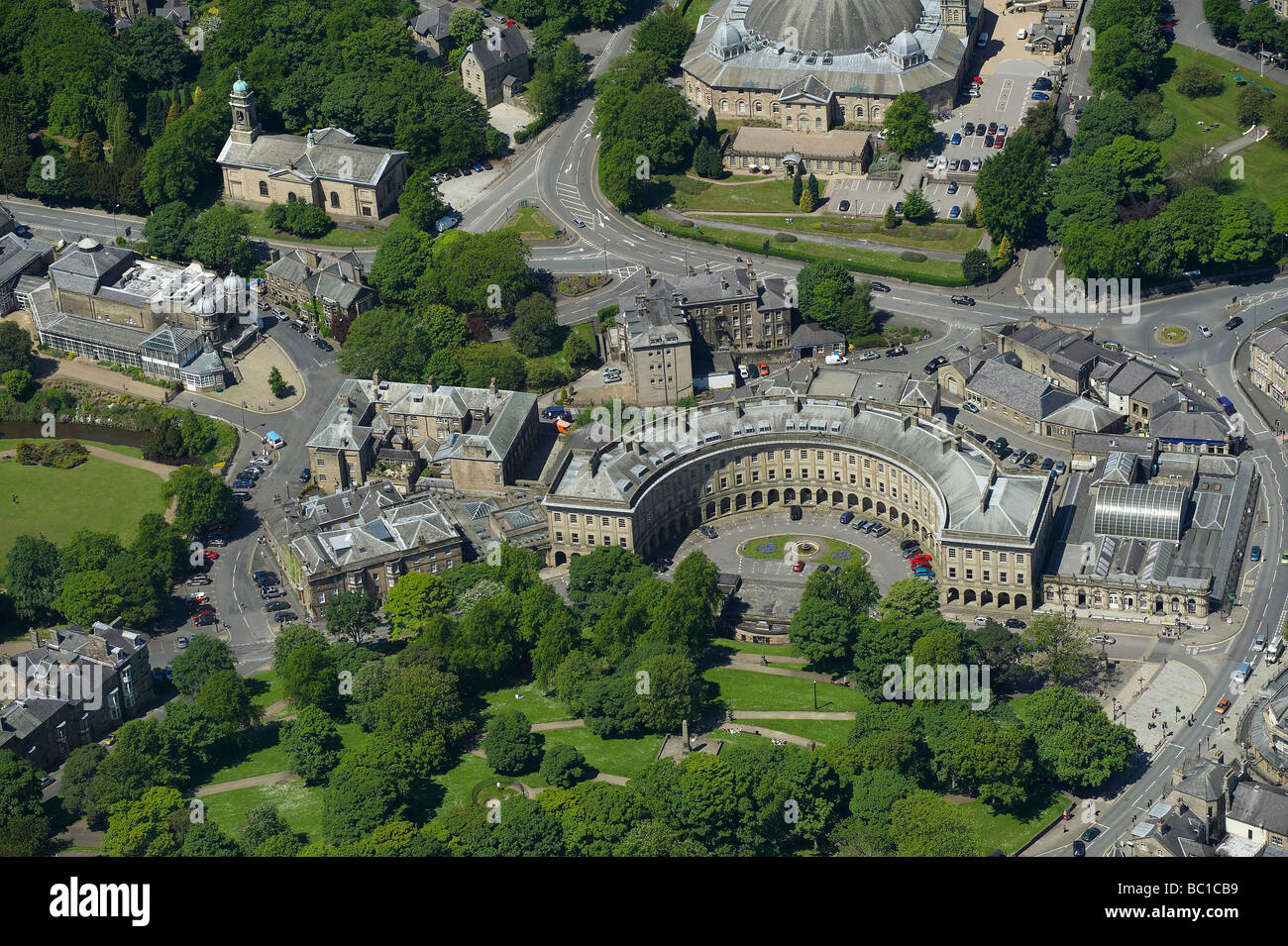 The Crescent, Buxton Derbyshire, Northern England - Stock Image