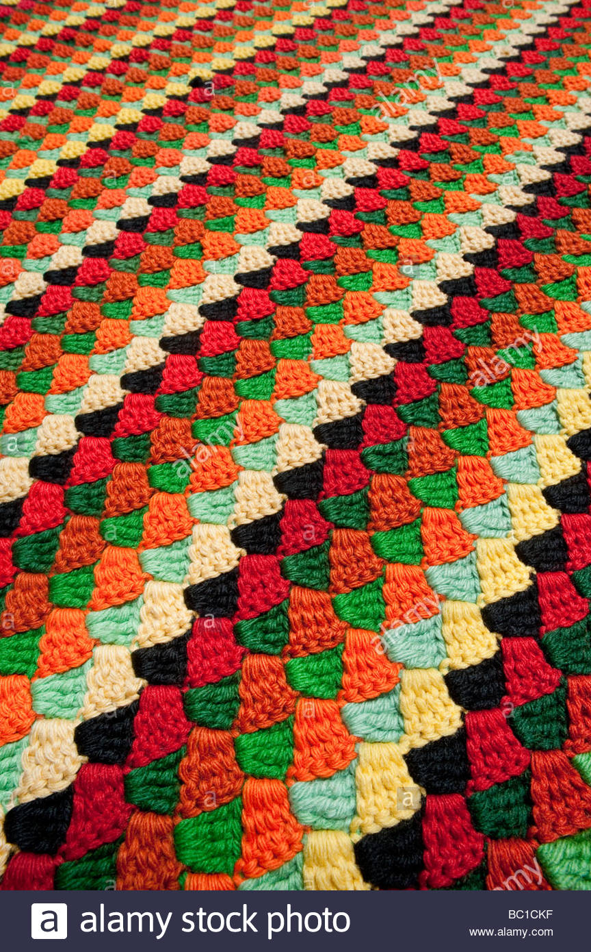 Vintage Crocheted Bed Spread American Handicrafts Woven Knitted Hand