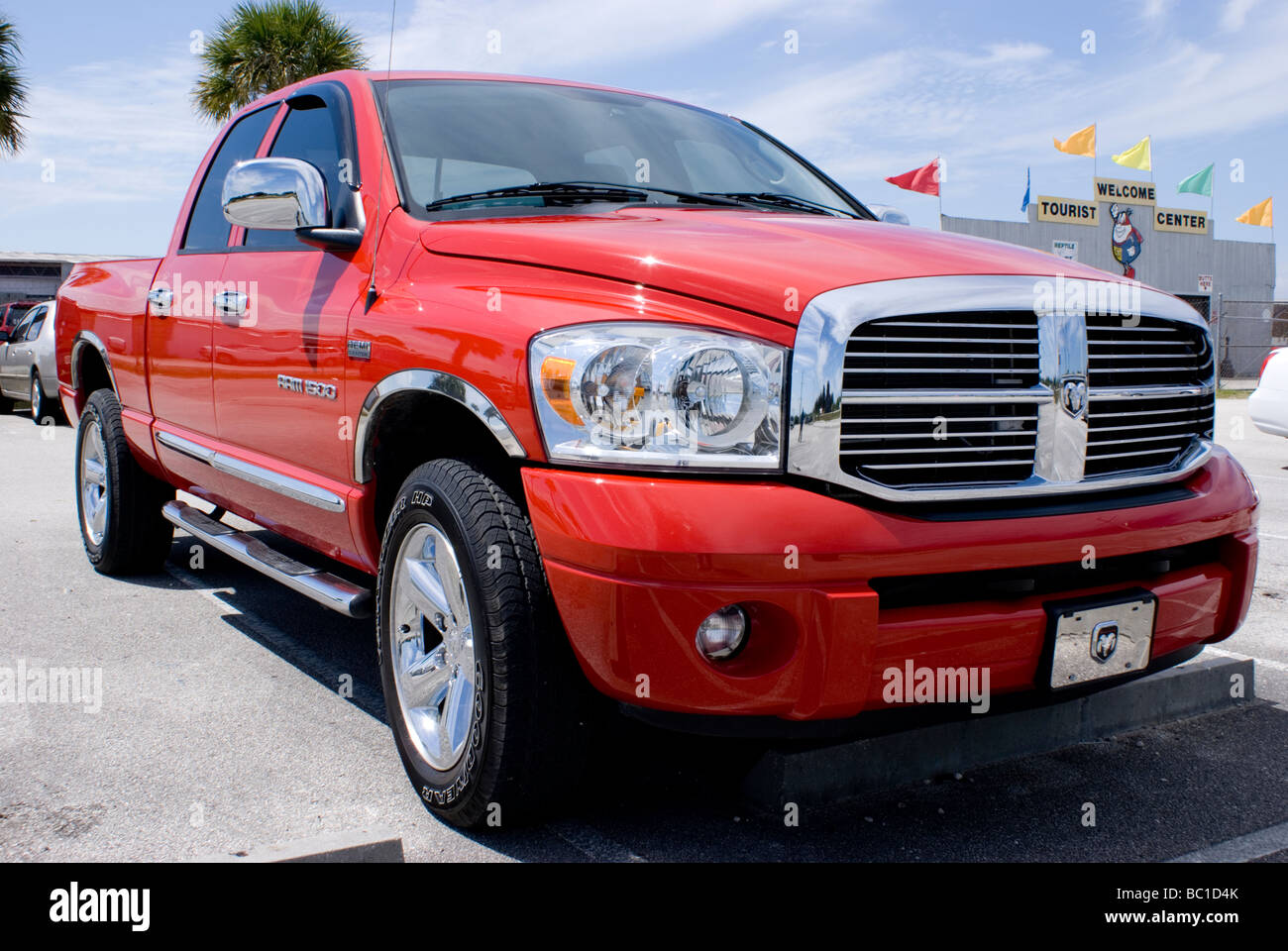 Dodge Ram 1500 in Florida parking lot - Stock Image
