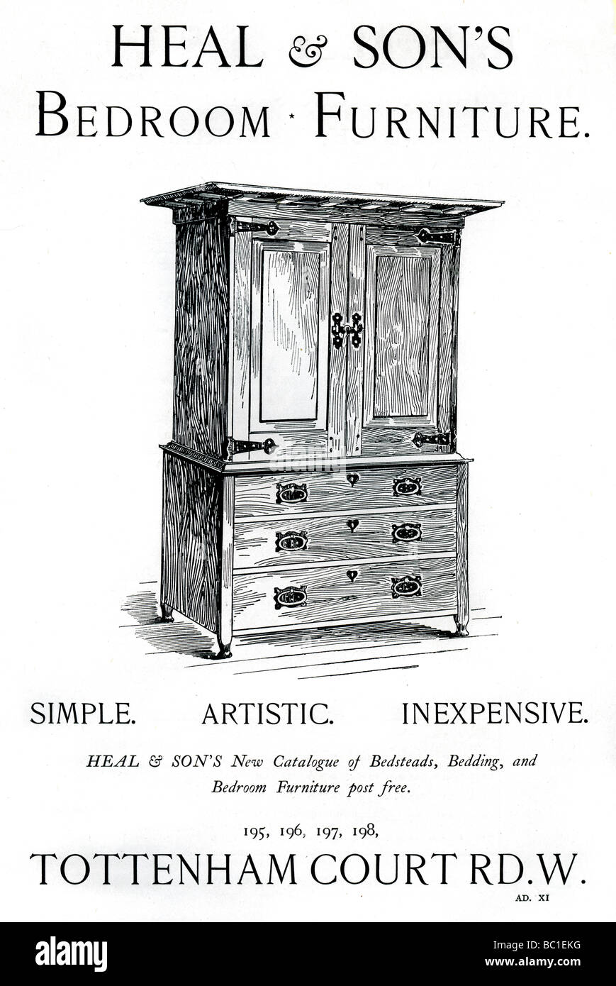 Furniture advertisement stock photos furniture for Furniture tottenham court road