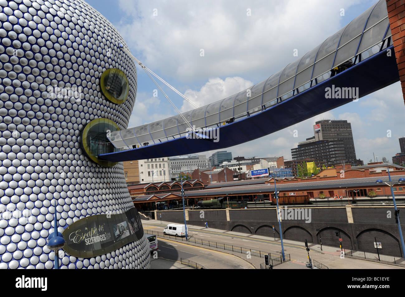 The skywalk entrance to Selfridges in the Bullring Birmingham England Uk - Stock Image
