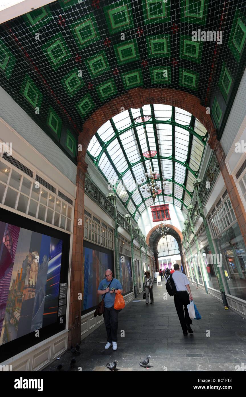 Shopping arcade Birmingham England Uk - Stock Image