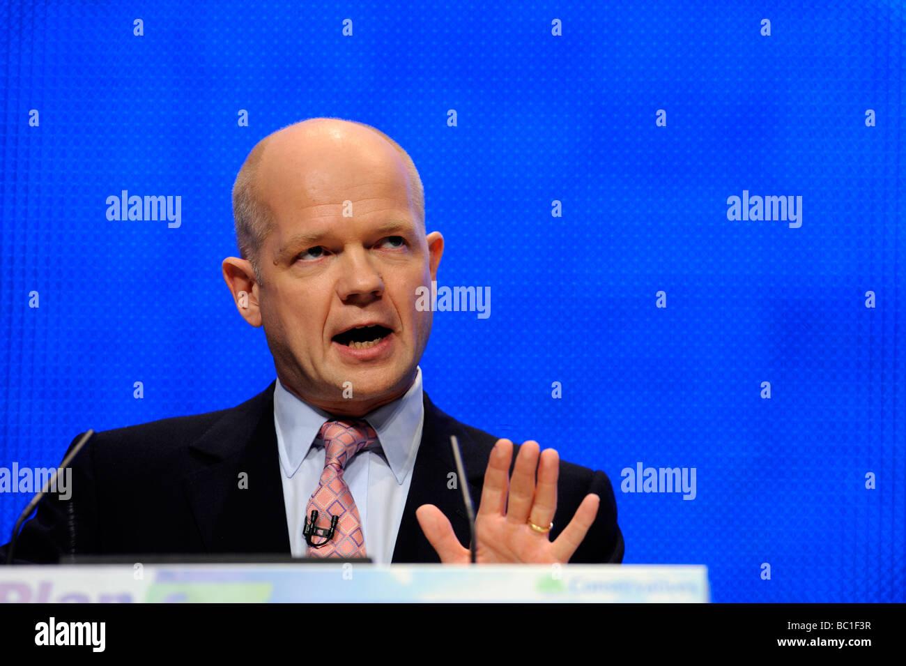 William Hague MP, Foreign Secretary - Stock Image