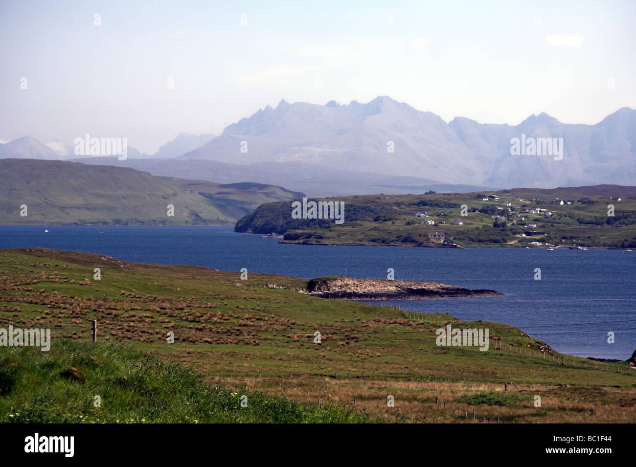 Cuillin Hills, Loch Harport, Isle of Skye, Inner Hebrides, West Coast of Scotland, UK Stock Photo