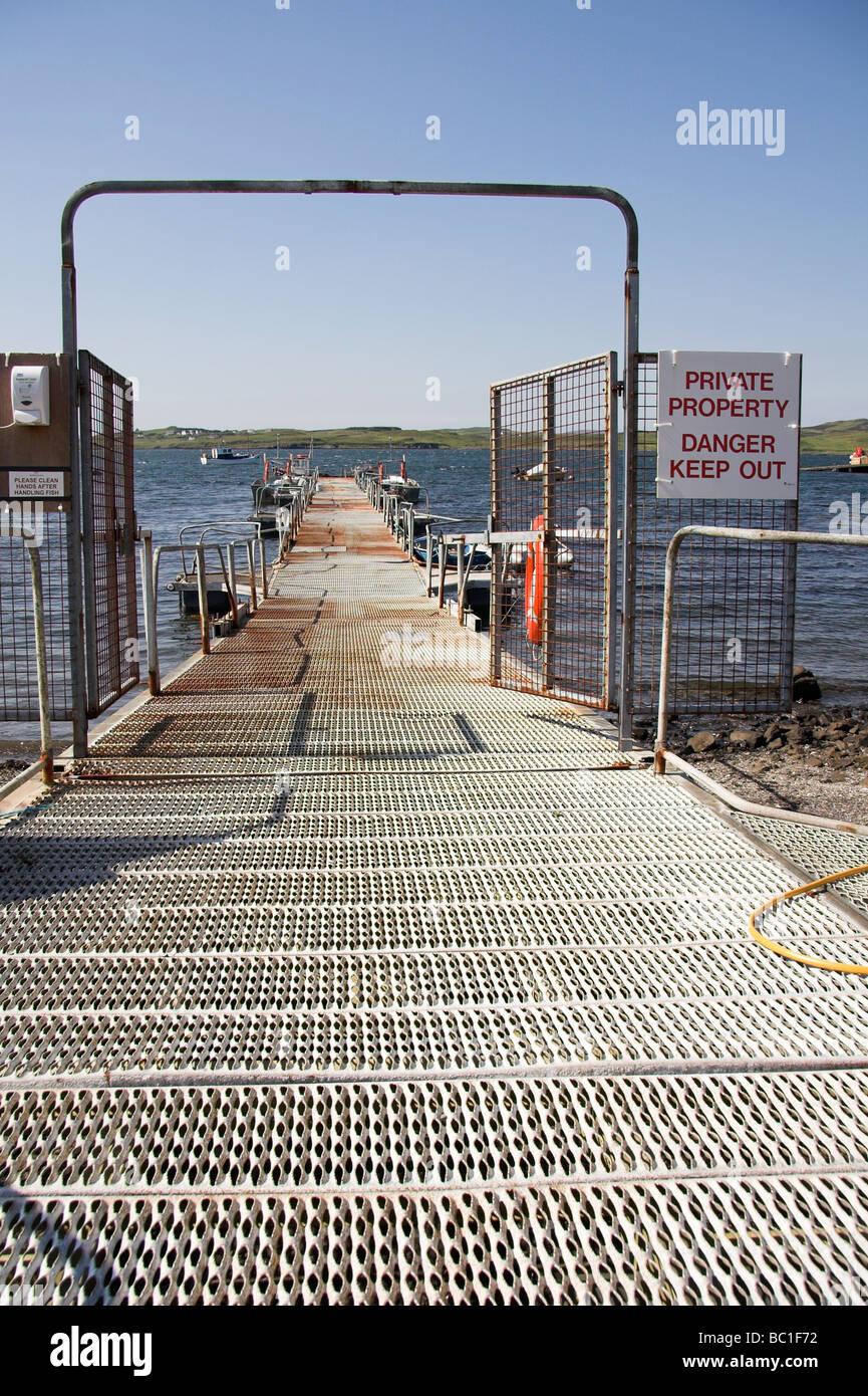 Fish farming, Isle of Skye, Inner Hebrides, West Coast of Scotland, UK Stock Photo