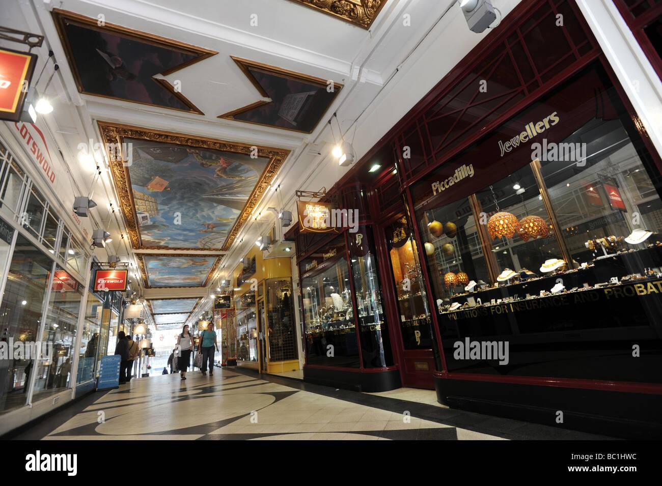 Piccadilly Shopping Arcade off New Street Birmingham England uk - Stock Image