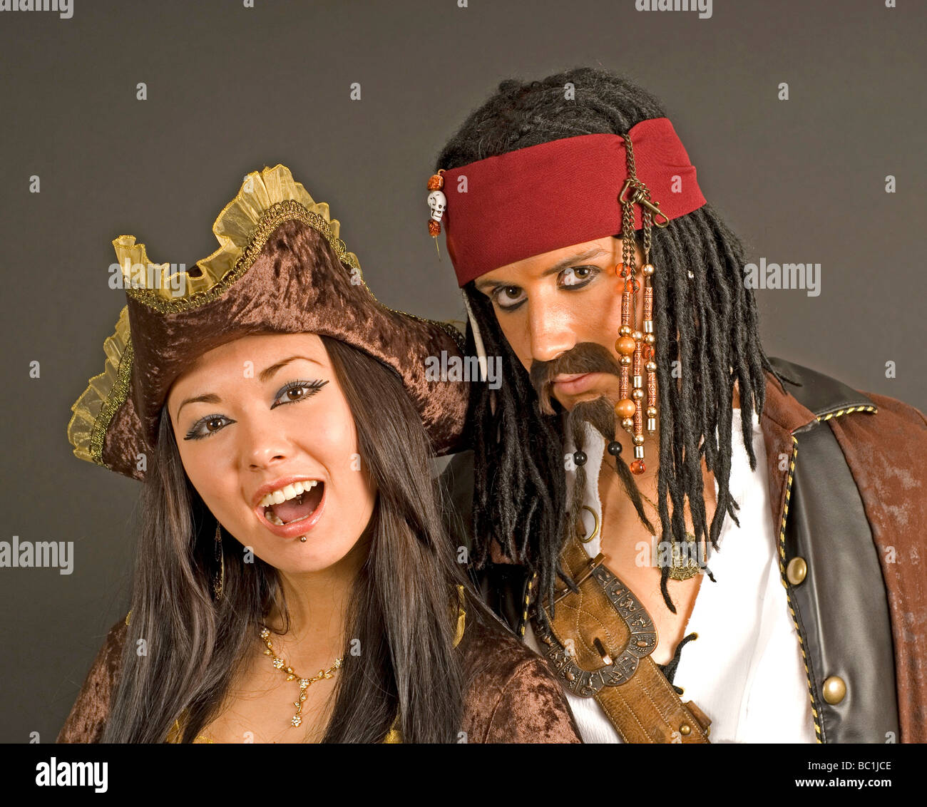 Pirate couple - Stock Image