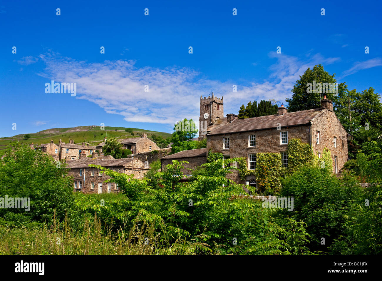 The village of Muker, in the Yorkshire Dales - Stock Image