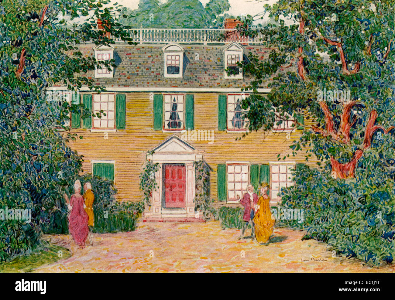 The Quincy House, New England, USA, c18th century (1921).Artist: James Preston - Stock Image