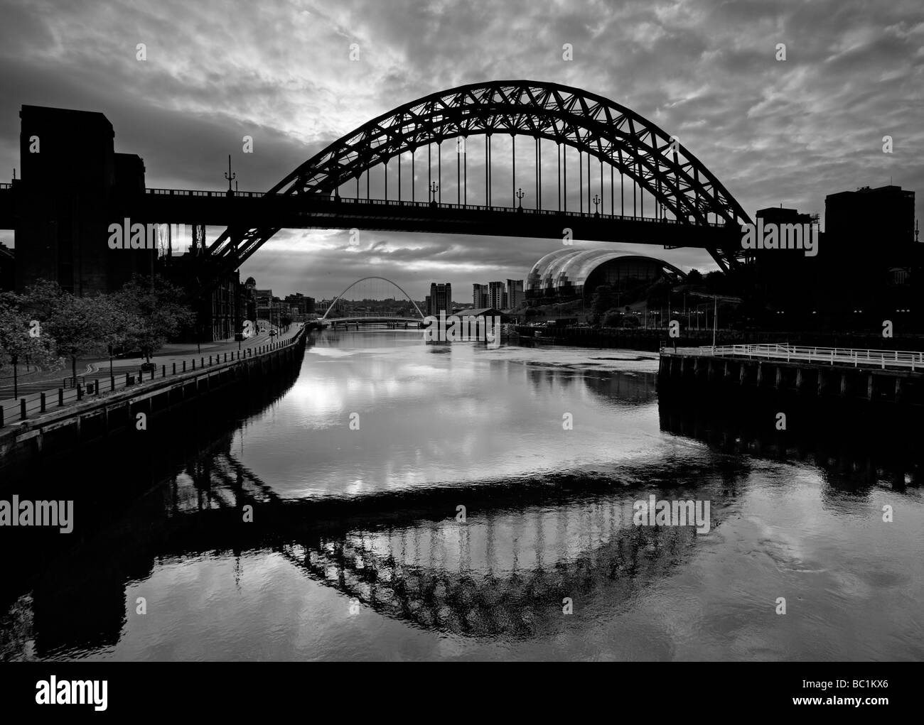 June thursday morning on the river tyne newcastle upon tyne stock image